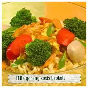 Resep masakan Mie Goreng Sosis Brokoli